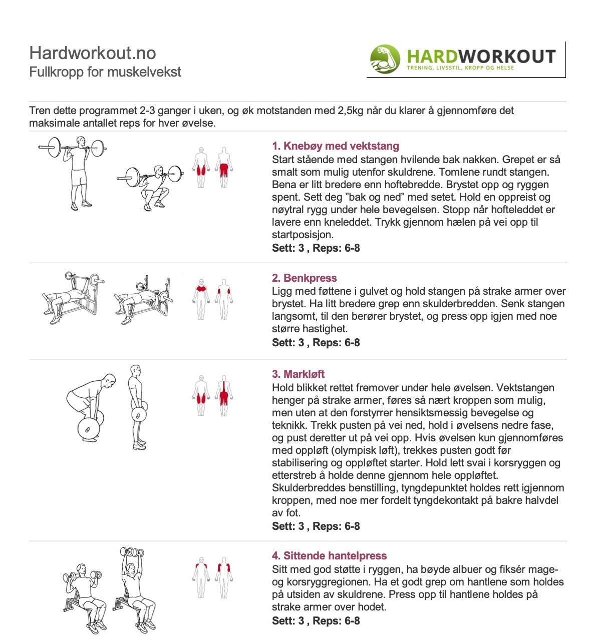 Fullkropp for muskelvekst