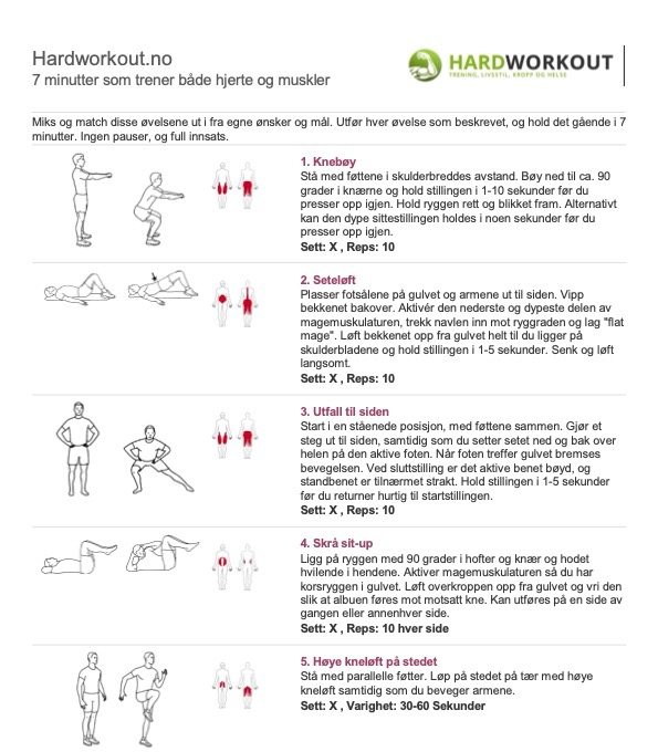 7 minutter som trener både hjerte og muskler