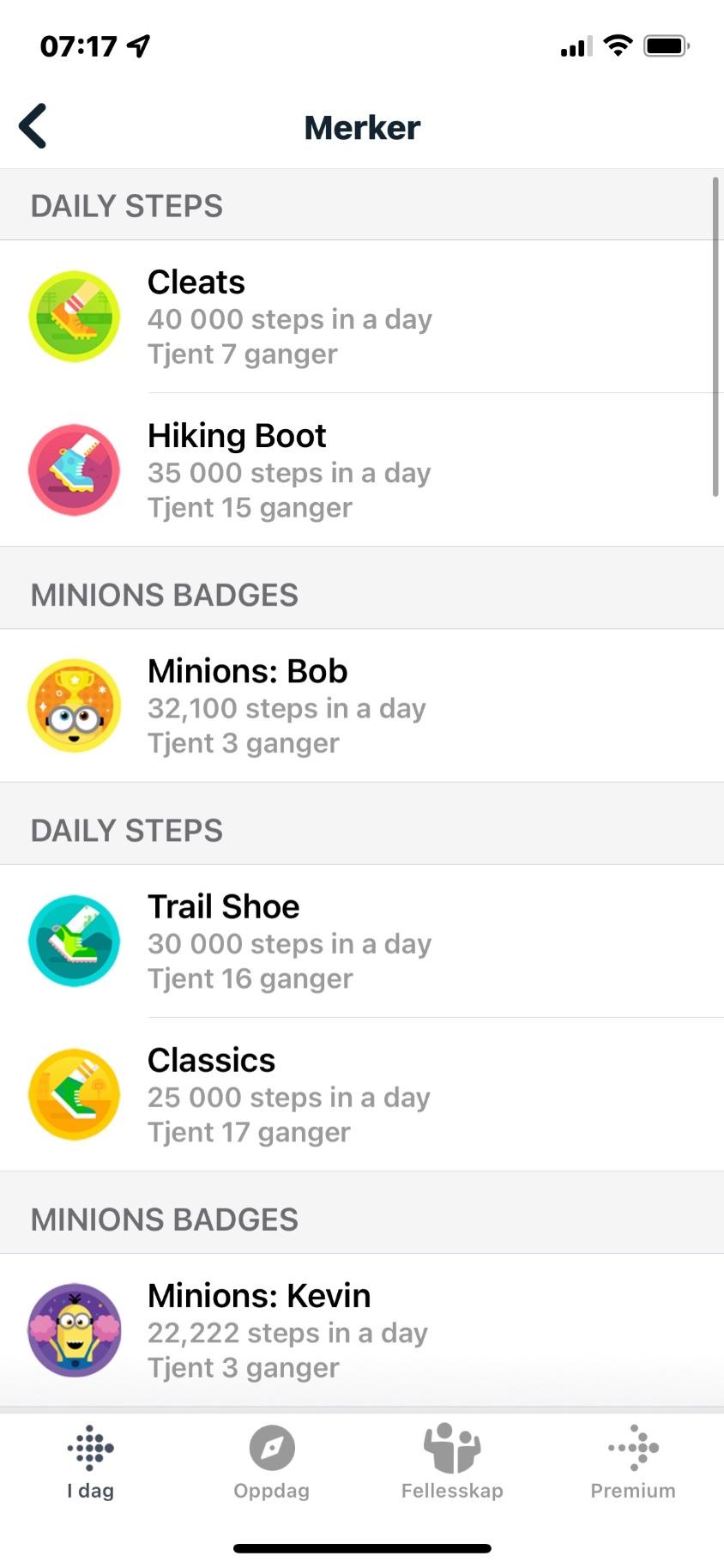 Fitbit - konkurranser/utfordringer